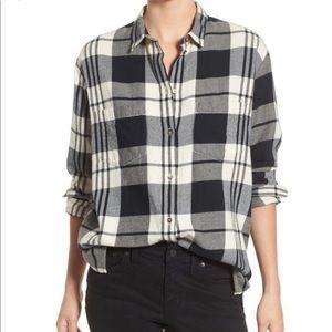 Madewell Ex Boyfriend Plaid Oversized Cotton Shirt
